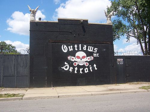 Outlaws clubhouse in Detroit | Motorcycles | Outlaws motorcycle club