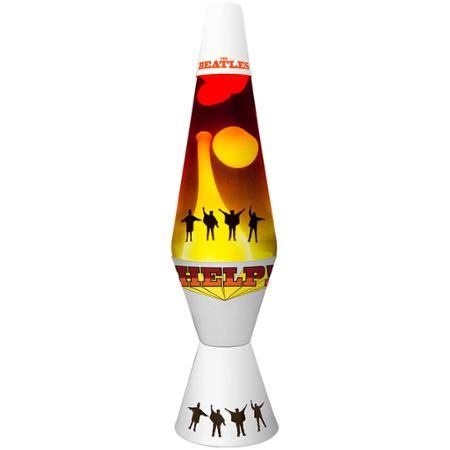 "Lava Lite 14.5"" Beatles Help! Lava Lamp, White Wax/Clear Liquid/Tri-Colored Globe"