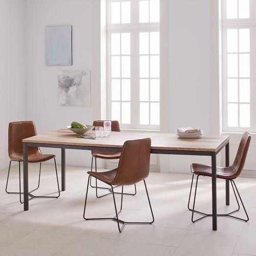 20 Best Minimalist Dining Room Design Ideas For Dinner: Mid-Century Expandable Dining Table - Walnut
