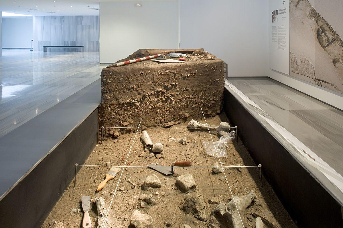 Maqueta Arqueologia 1 Planta Baja Del Museo De Almeria Suelo De Habitacion De Un Abrigo Rocoso Por Cazadores Recole Arqueologia Actividades Humanas Museos