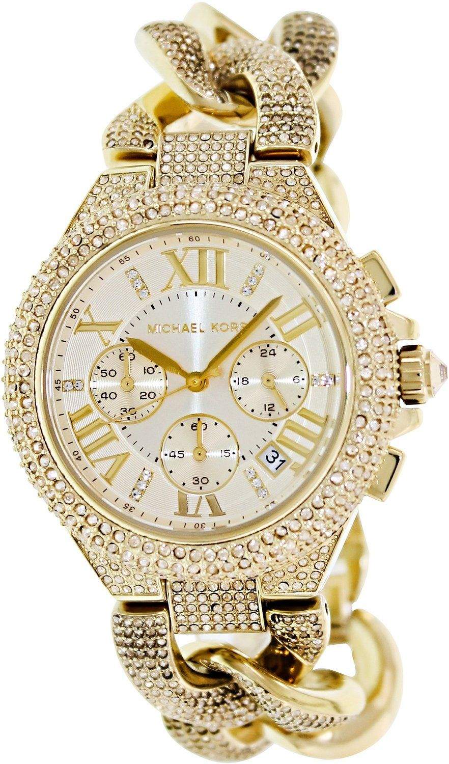 Gold watches women Michael Kors