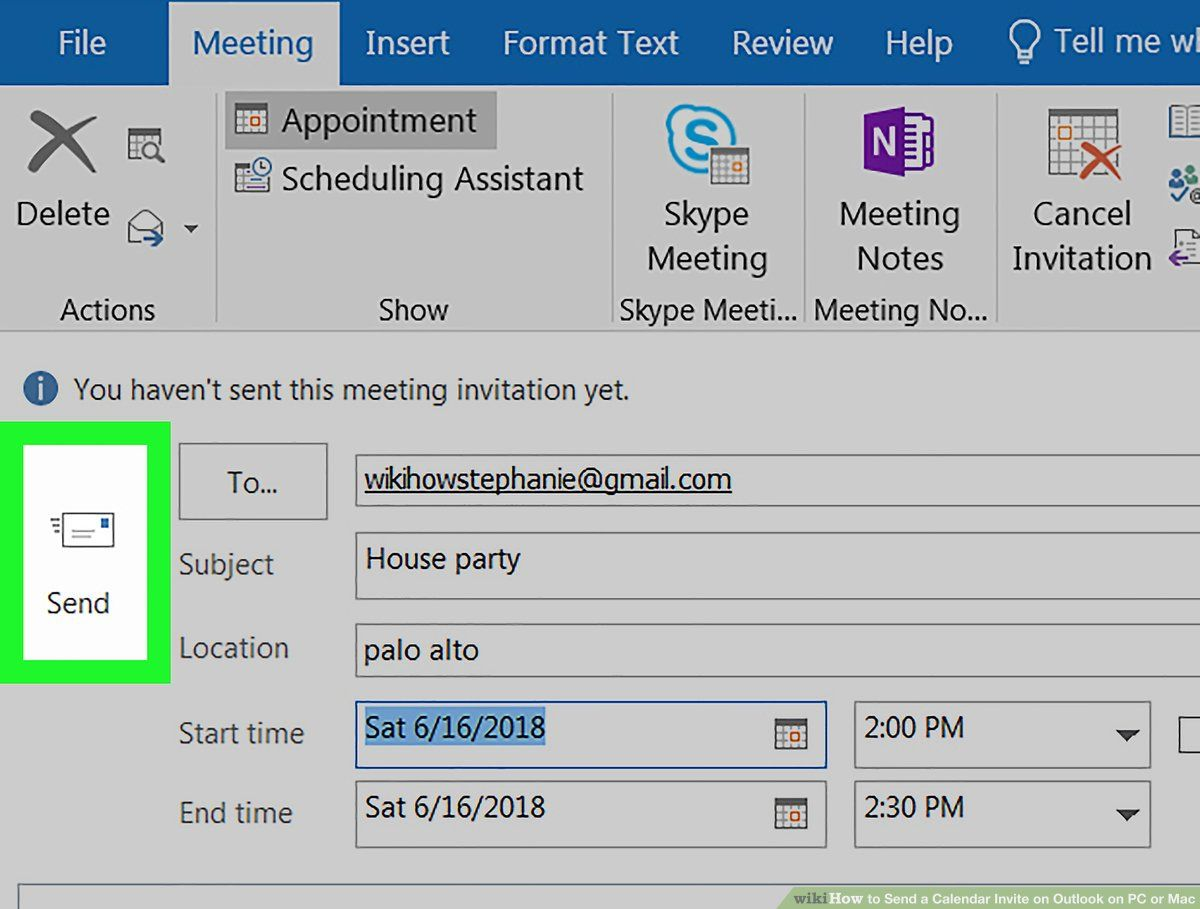 How To Send A Calendar Invite On Outlook On Pc Or Mac 12 Steps Throughout Outlook Meeting Invite Template In 2020 Calendar Invite Outlook Calendar Invitations