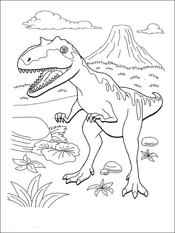 druckbare dinosauriermalvorlagen dinosaurier zug