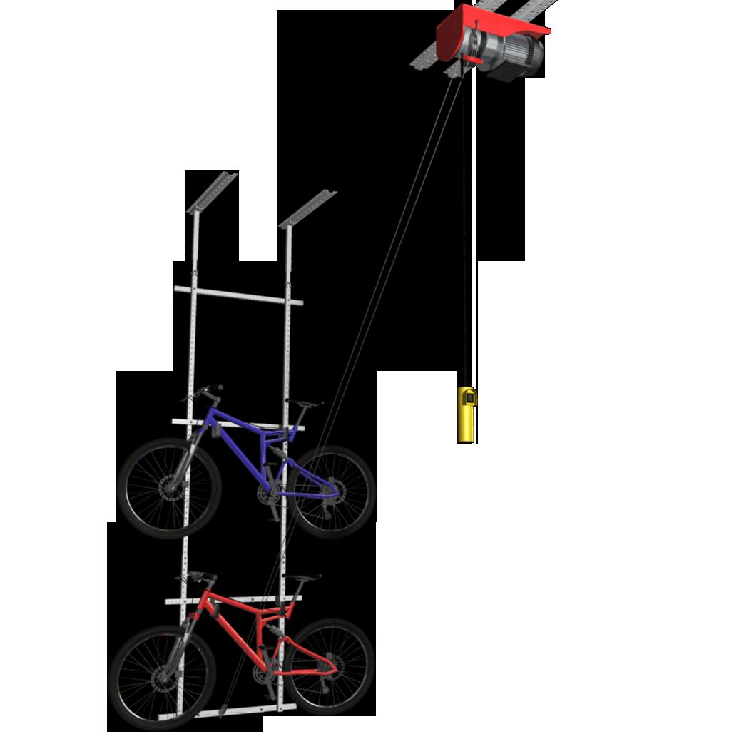 Motorized Horizontal Double Bike Lift Bike Lift Bicycle Storage