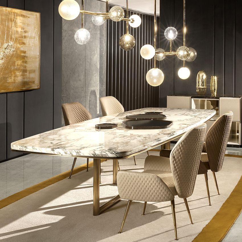 15 High End Contemporary Dining Room Designs: MARBLE DINING TABLE - High End Designer Tables