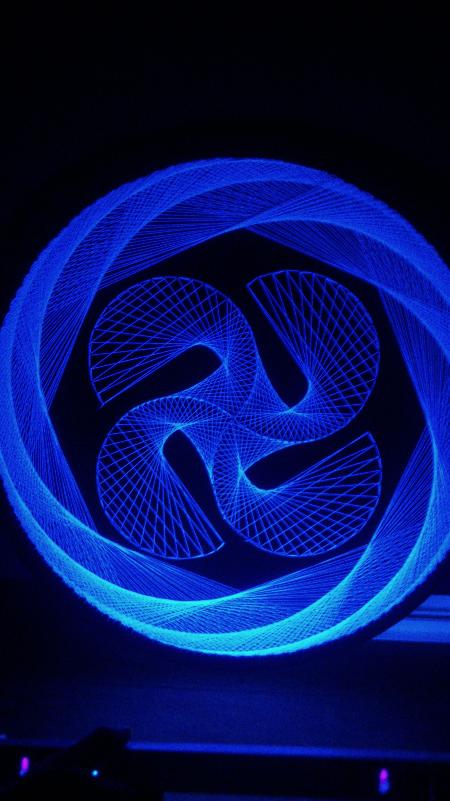 Blacklight String Lights Ring And Black Light  String  Pinterest  String Art