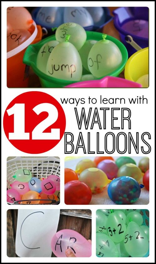 12 Ways to Learn with Water Balloons