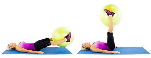 Image result for Ball Leg Lifts: