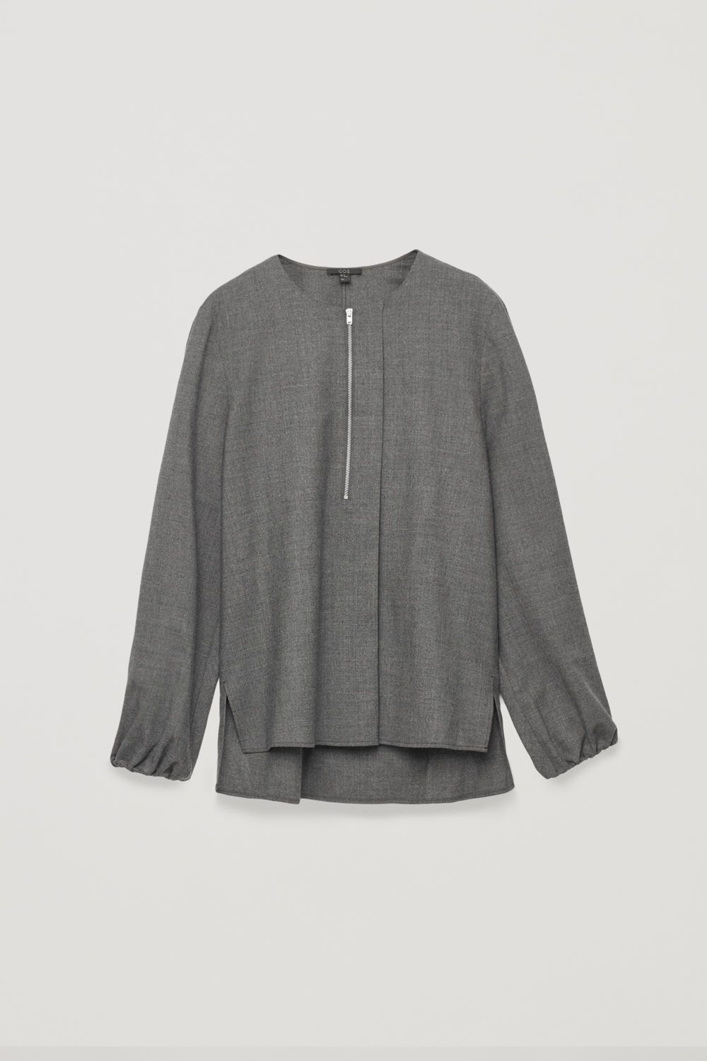 e9bc494d0b5 ZIP-FRONT WOOL BLOUSE | to wear in 2019 | Mens tops, Tops, Cut ...