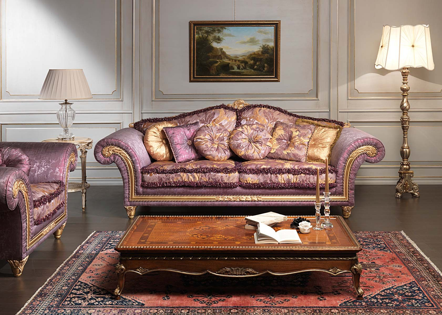 Luxury Classic Sofa and Armchairs Imperial by Vimercati Media 2
