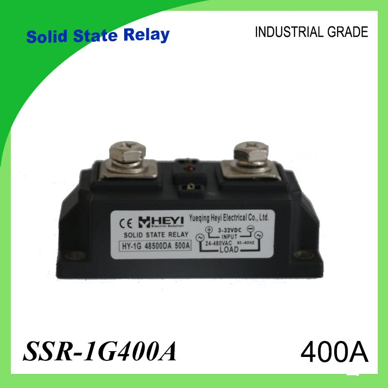 SSR-400A Solid State Relay 400A Industrial 24-480VAC 3-32VDC