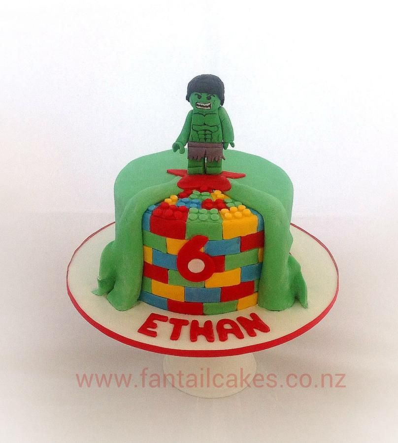 Lego Marvel Incredible Hulk Cake cakes Pinterest Hulk cakes