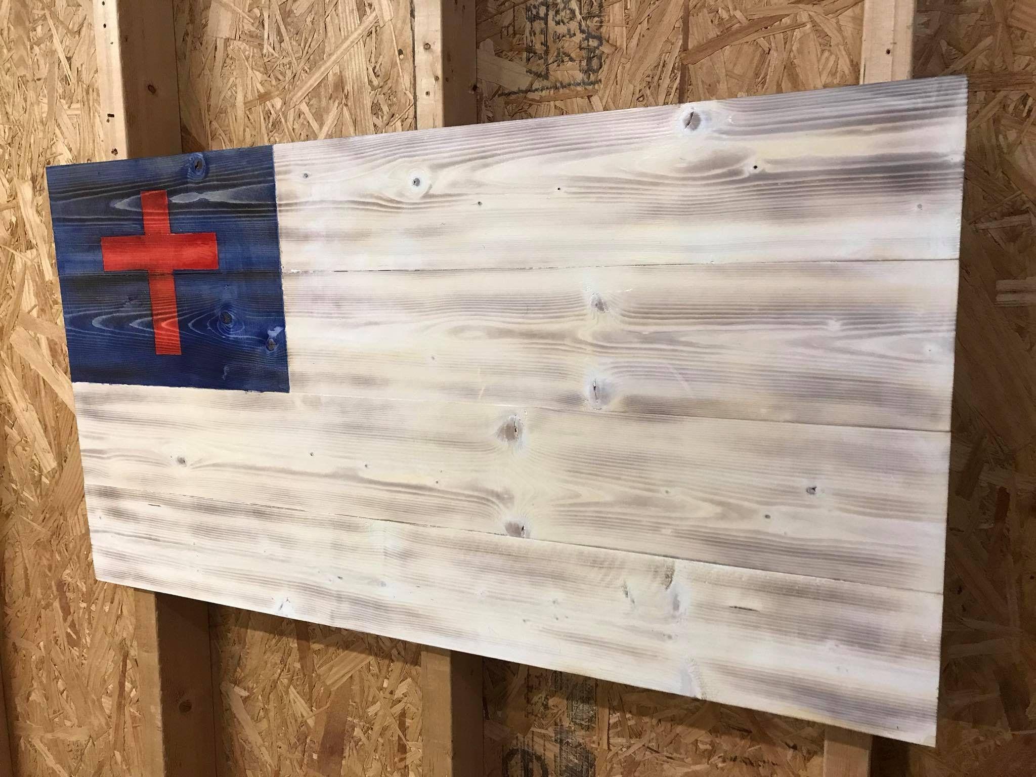 Christian Flag Wood Christian Flag Rustic Christian Flag Etsy In 2020 Rustic Christian Christian Flag Rustic American Flag