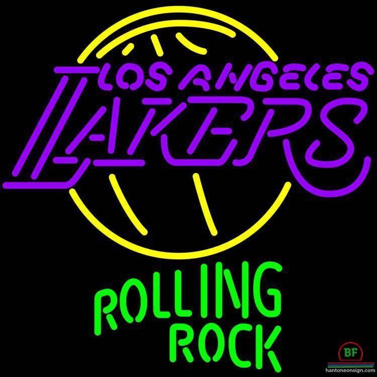 Neon Signs Los Angeles Rolling Rock Los Angeles Lakers Neon Sign Nba Teams Neon Light  Los
