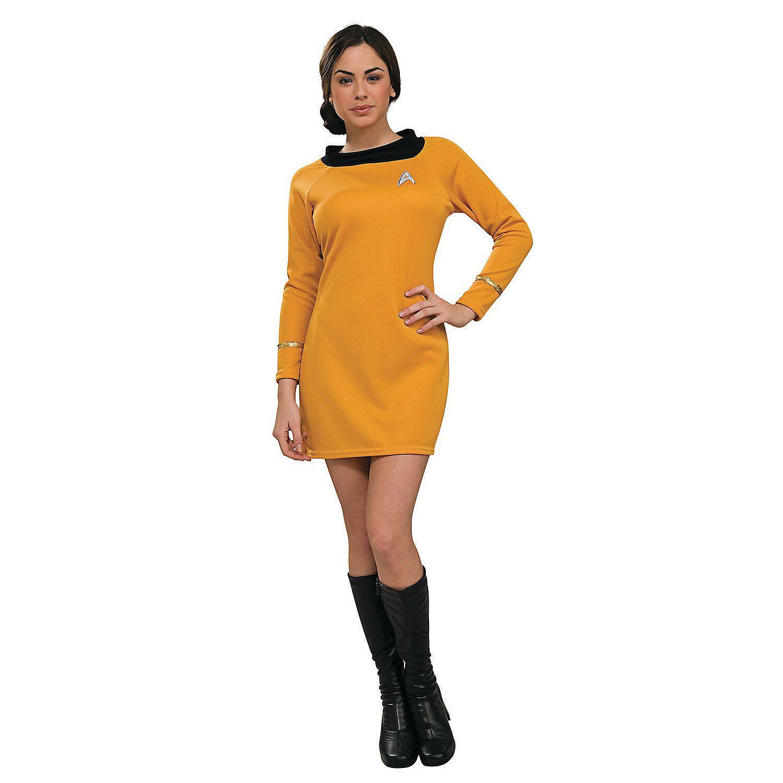 Star Trek Uniform Classic Gold Dress Adult Women s Costume -  OrientalTrading.com bbd49f1309