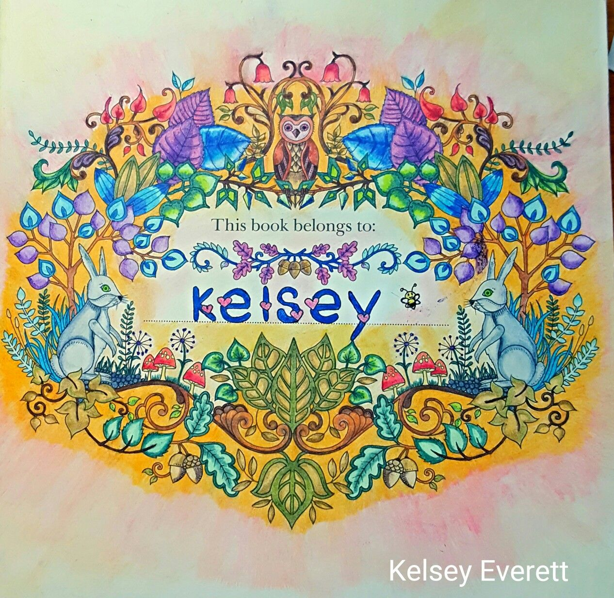 Johanna Basford's Enchanted Forest colored name page by ...