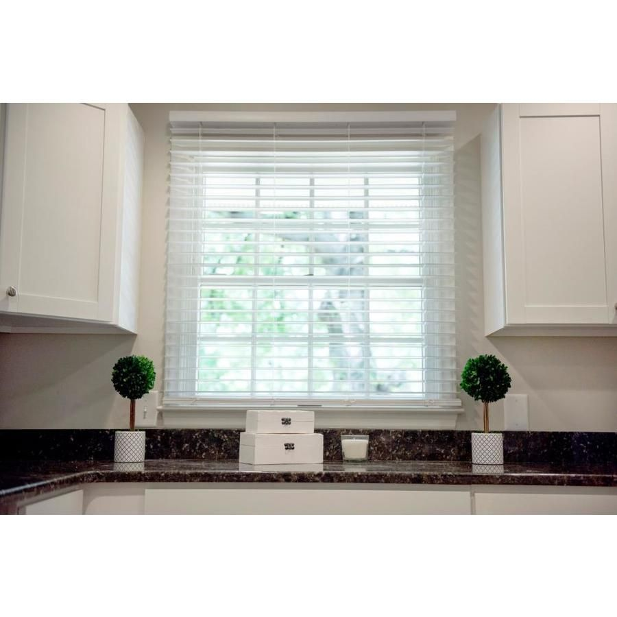 Wave Contour 2in Cordless Soft White Faux Wood Blinds