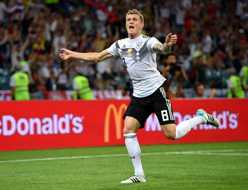 Toni Kroos Of Germany Celebrates Scoring His Sides Winning Goal Toni Kroos Fifa Fifa World Cup