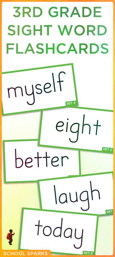 Free third grade Dolch sight word flashcards Each page contains - dolch sight word flashcards