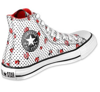 c0e59cf5 ladybug shoes for women | Converse All Star Hi Can Ladybug shoes wht/blk/red