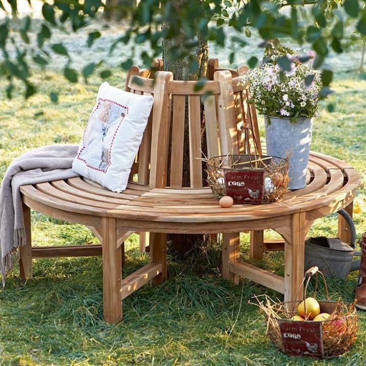 Beautiful bench deck jardim Pinterest Bench, Tree bench and