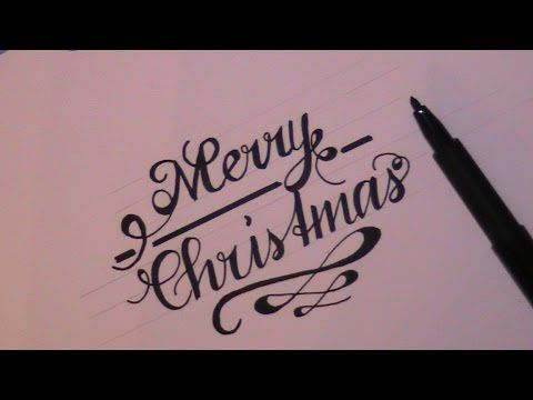 cursive fancy letters - how to write merry christmas i wish you a