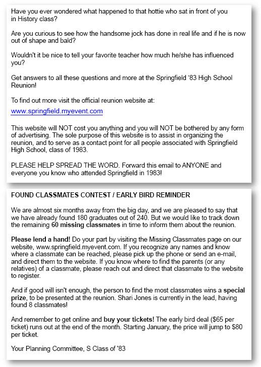 Planning tips and ideas for your high school reunion This class - announcement letter sample format