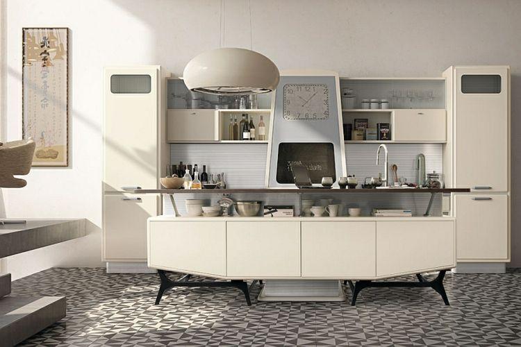 Kann die moderne Küche im Retro Stil gestaltet sein ...