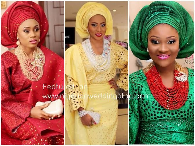c1ed489f23f Nigerian Wedding Presents The Rise of The Monotone Aso-oke Trend…