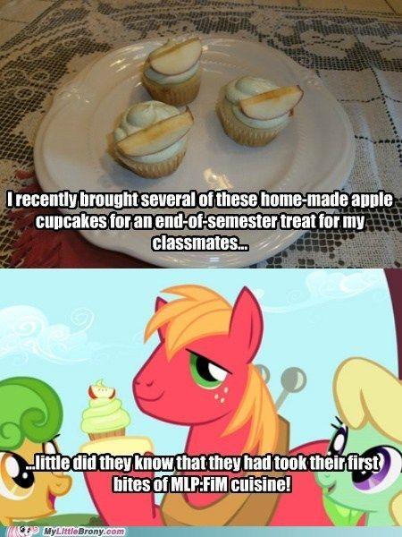 Mmm cupcakes.. shame apple would go brown.. lemon juice help?