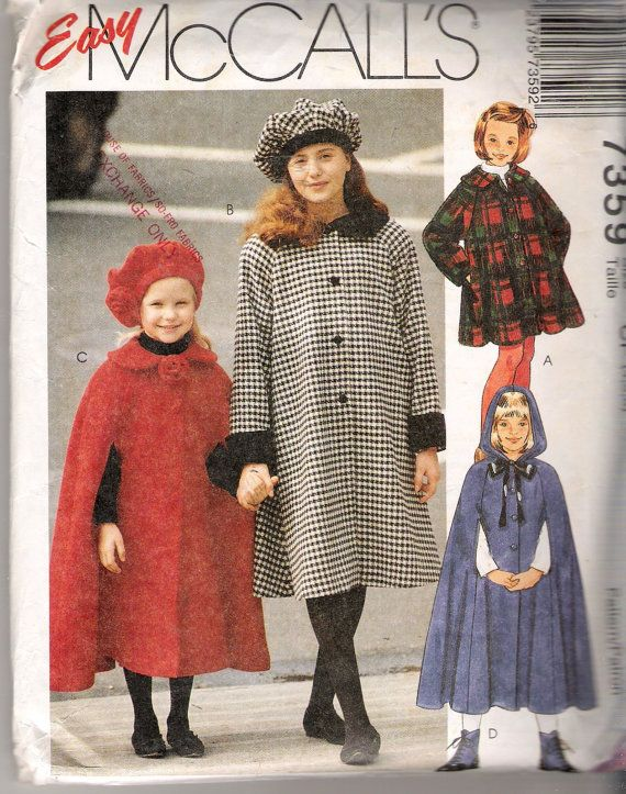 Vintage 1994 McCall's 7359 Children's and Girl's by Recycledelic1