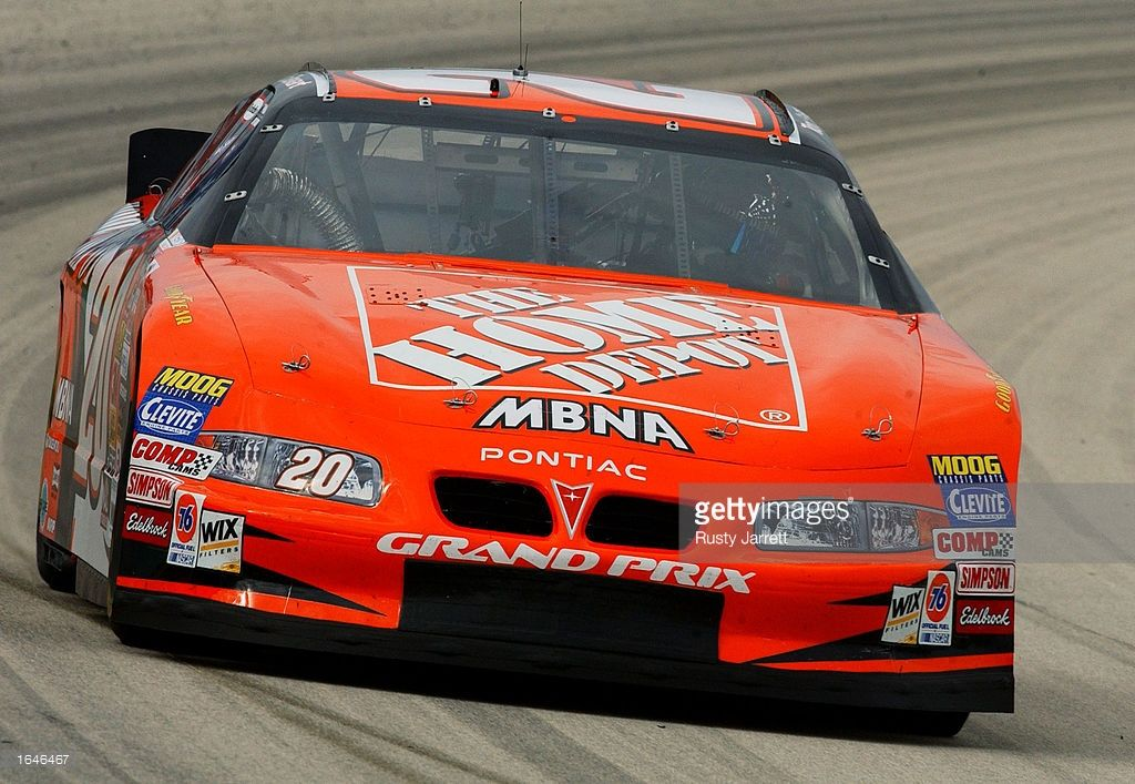 Tony Stewart Driver Of The 20 Home Depot Pontiac Grand Prix During Practice For The Nascar Winston Cup Ser Pontiac Grand Prix Tony Stewart Classic Race Cars