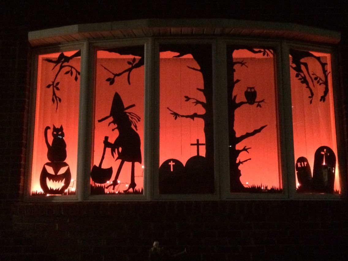Halloween window Decor 2014 Crafts And More Pinterest - halloween window decor