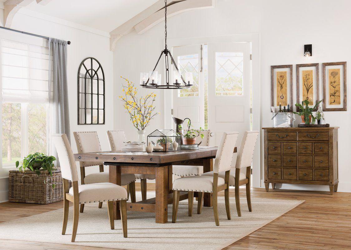Etolin Extendable Dining Table Wayfair Dining Room Chairs Wayfair Dining Room Sets Farmhouse Dining Table