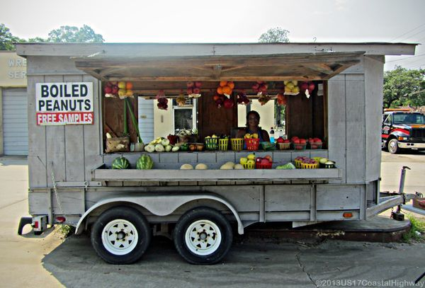 Vegetable and Boiled Peanut Stand Georgetown SC  US 17 Coastal Highway  South carolina