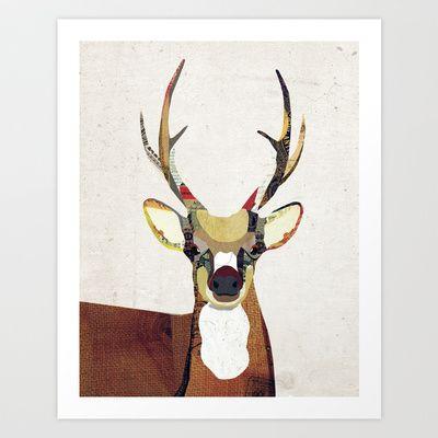 Oh My Deer Art Print by Lindsey Kay Nichols - $16.00