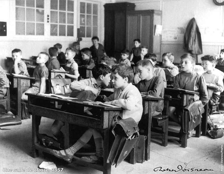 Robert Doisneau // Une salle de classe, 1957. http://www.gettyimages.co.uk/detail/news-photo/classroom-1957-news-photo/121507552