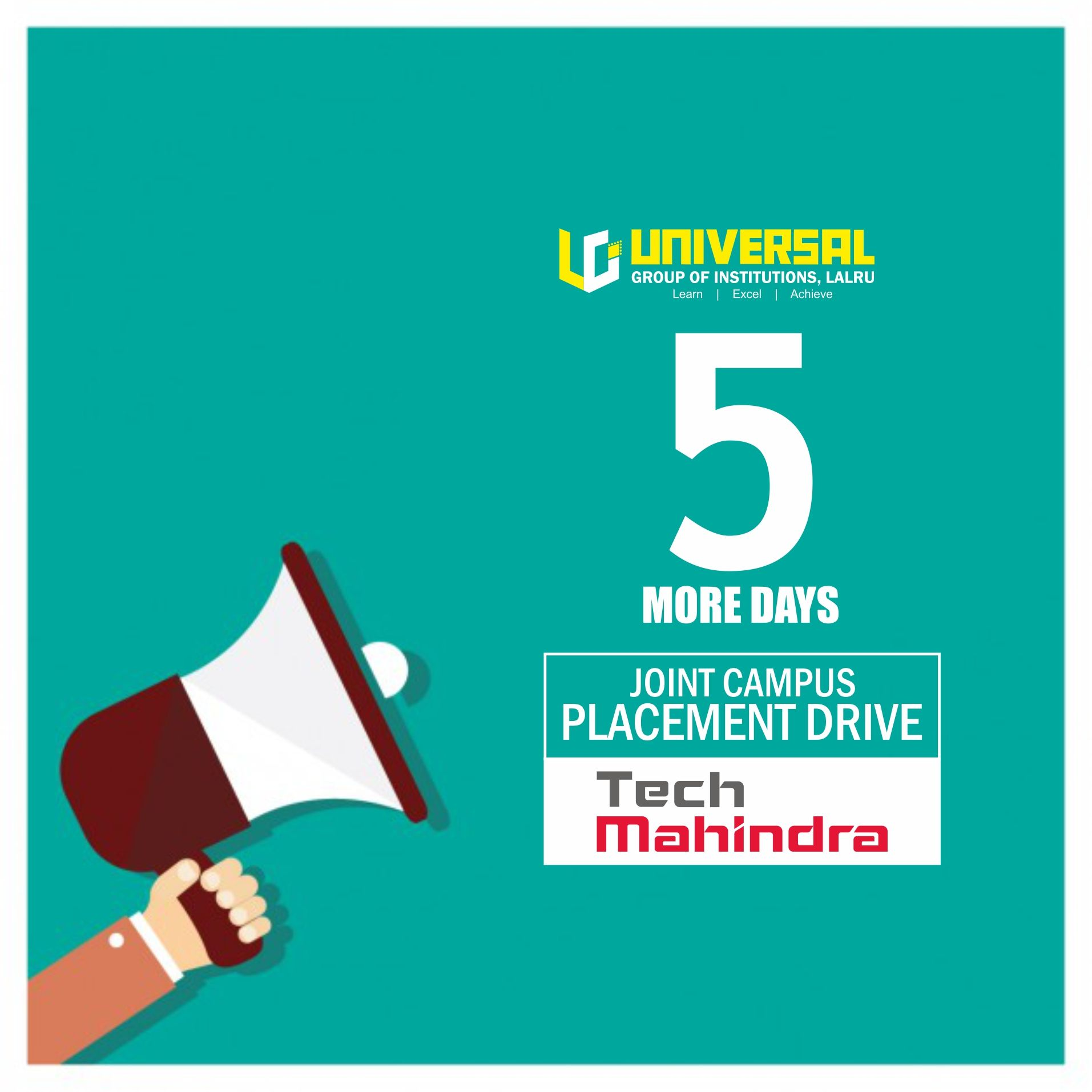 Campus Placement Drive 5 More Days Tech Mahindra