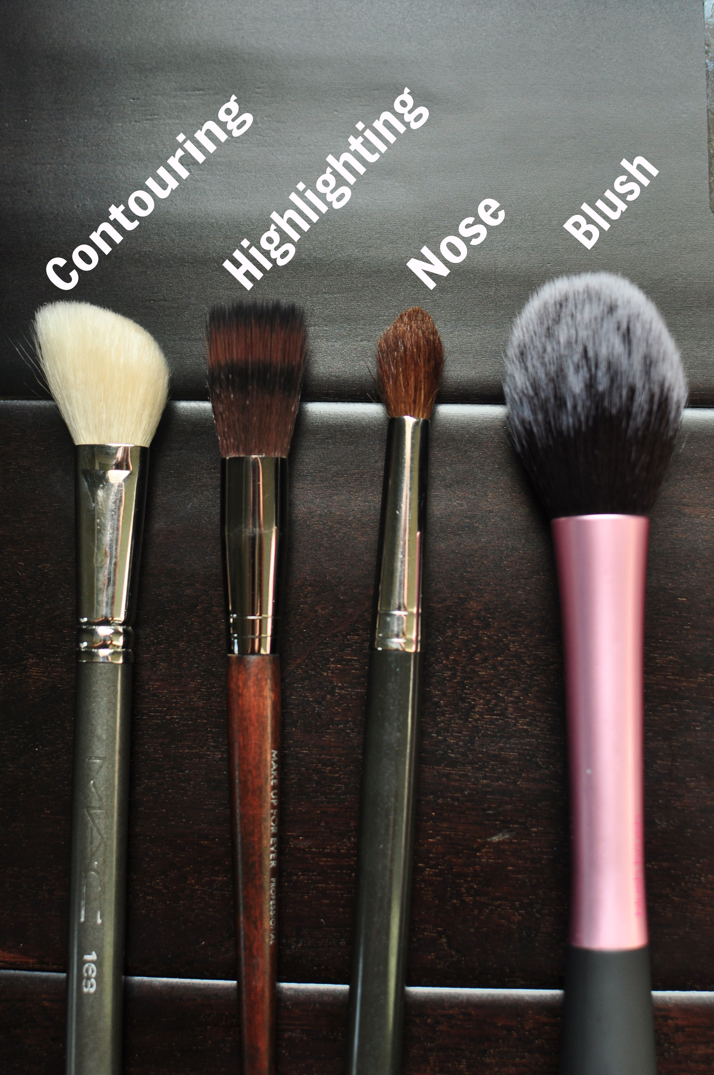 Brushes For Contouring and Highlighting Contouring