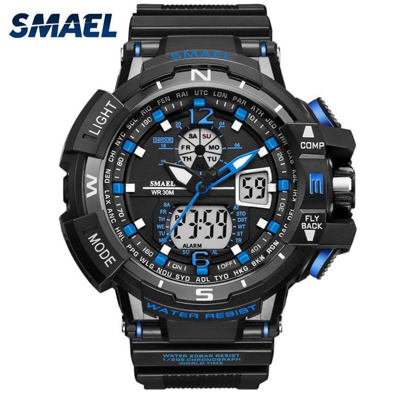 Man Sport Watch Waterproof Shock Resitant SMAEL Brand