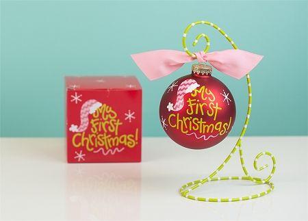 My First Christmas Pink Santa Hat Ornament | underthecarolinamoon.com #cotoncolor #cotoncolorschristmas #cotoncolorsornaments #utcm #underthecarolinamoon #christmasornament #myfirstchristmas