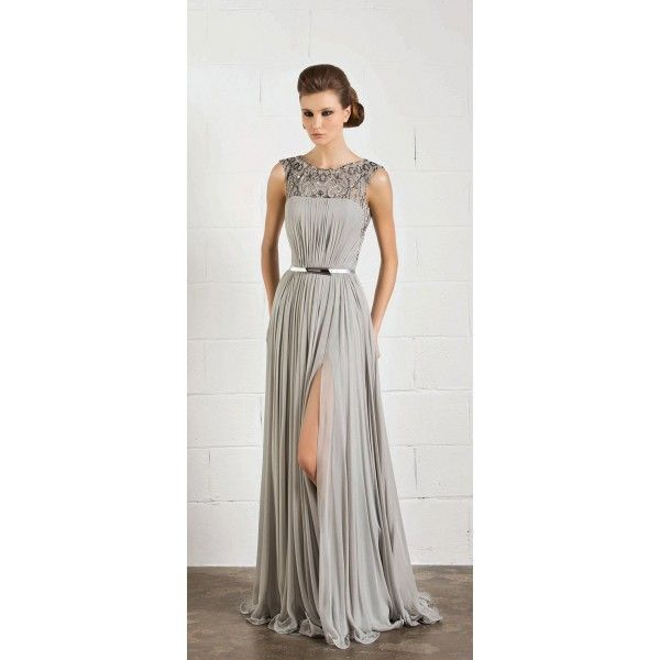 Grey evening dresses with sleeves are chic and stylish | D2's ...