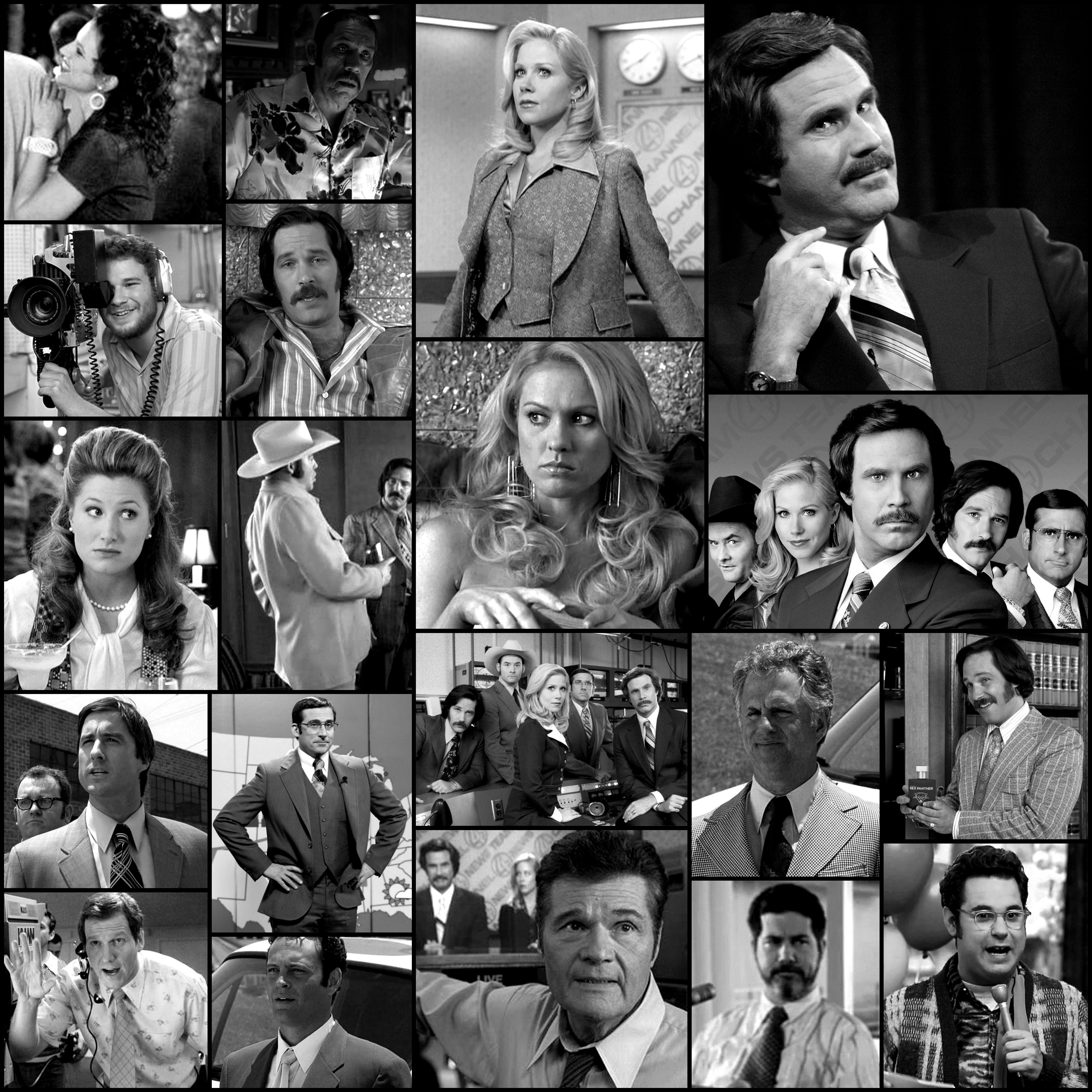 Anchorman The Legend Of Ron Burgundy 2004 Picture Collage Great