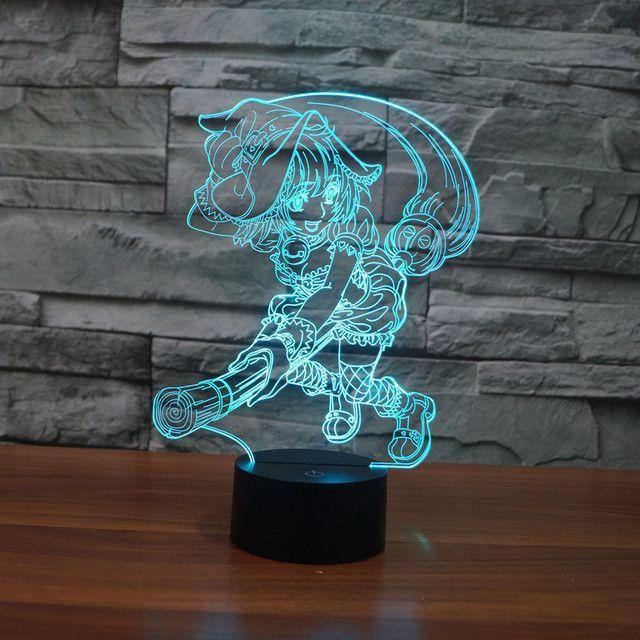 Yu Mo Risa Inspired 3d Optical Illusion Lamp 3d Illusion Lamp 3d Led Night Light 3d Illusions