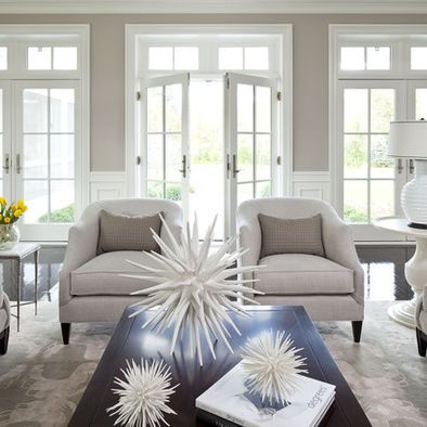 Wainscoting And Lots Of Windows Ashen Tan 996 By Benjamin Moore Is Similar Www Oharainteriors Furniture
