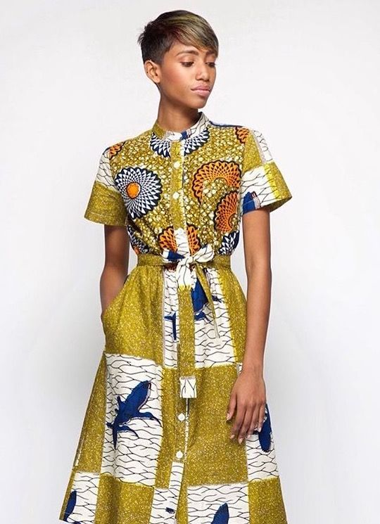 7051f9c8c7 Simple Ankara Shirt Dress. Lovely.