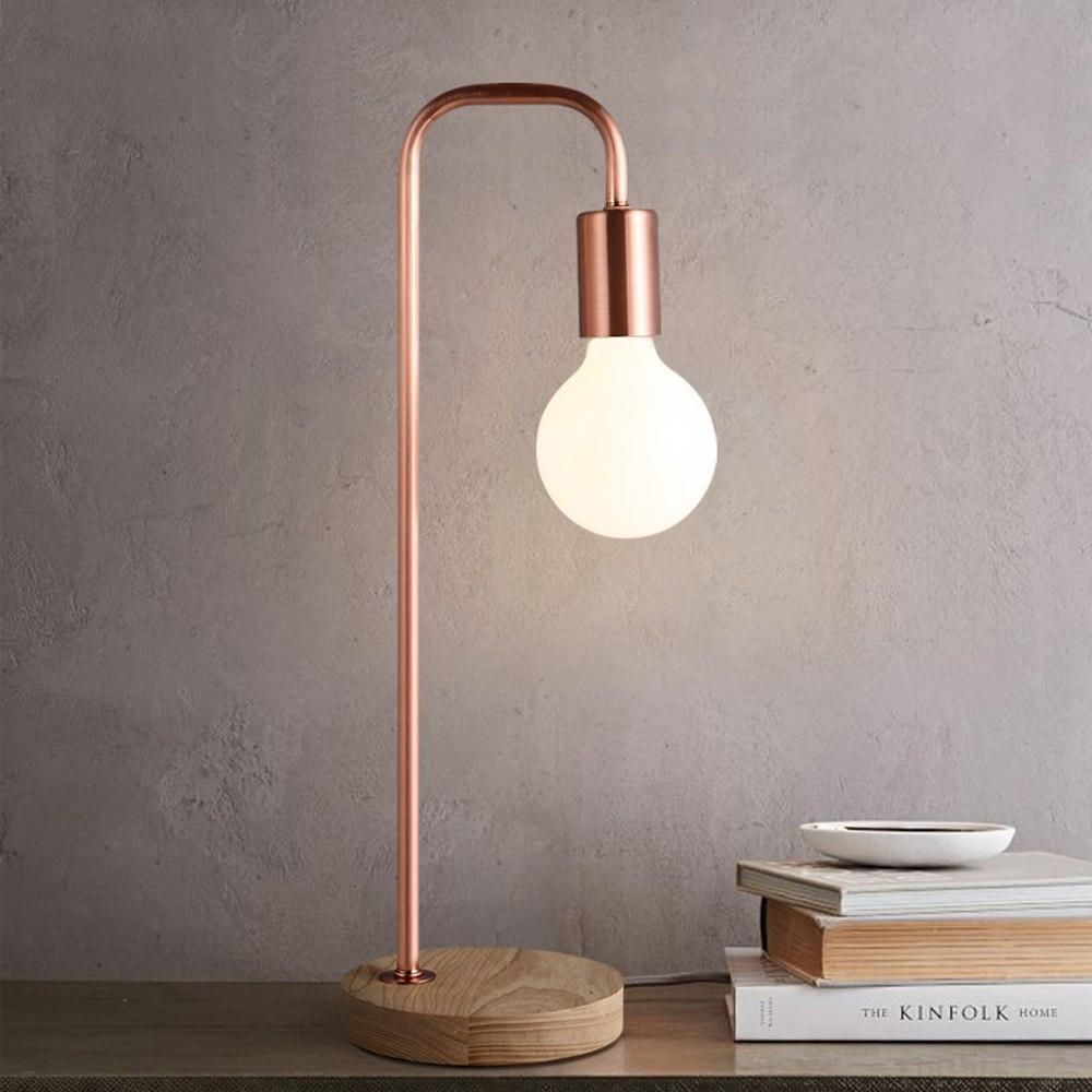 When The Song Said You Light Up My World Like Nobody Else We Were Thinking Of This Lamp Because Rose Gold Unique Gold Desk Lamps Desk Lamp Modern Lamp