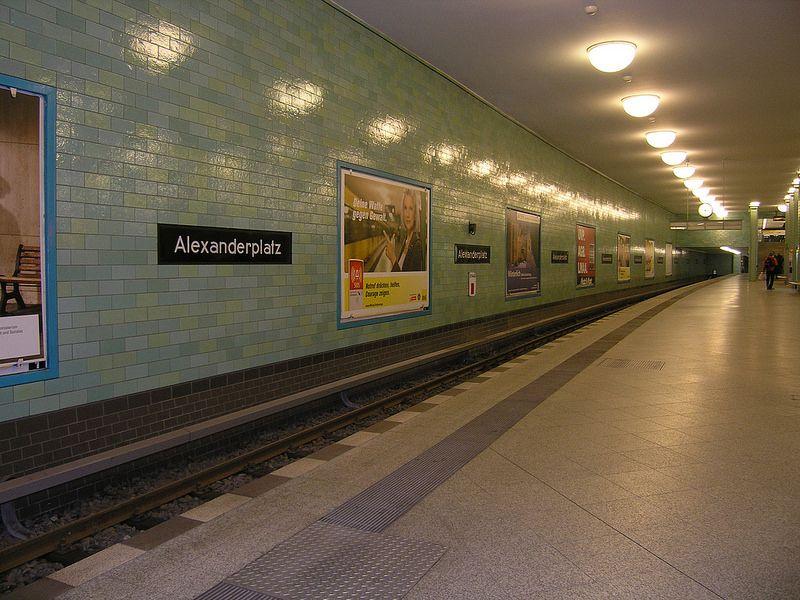 U Bahnhof Alexanderplatz Berlin Germany U Bahnhof Bahnhof U Bahn