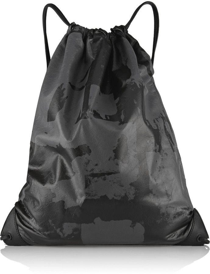 d0fd2a2e06 Alexander Wang Gym Sack leather backpack