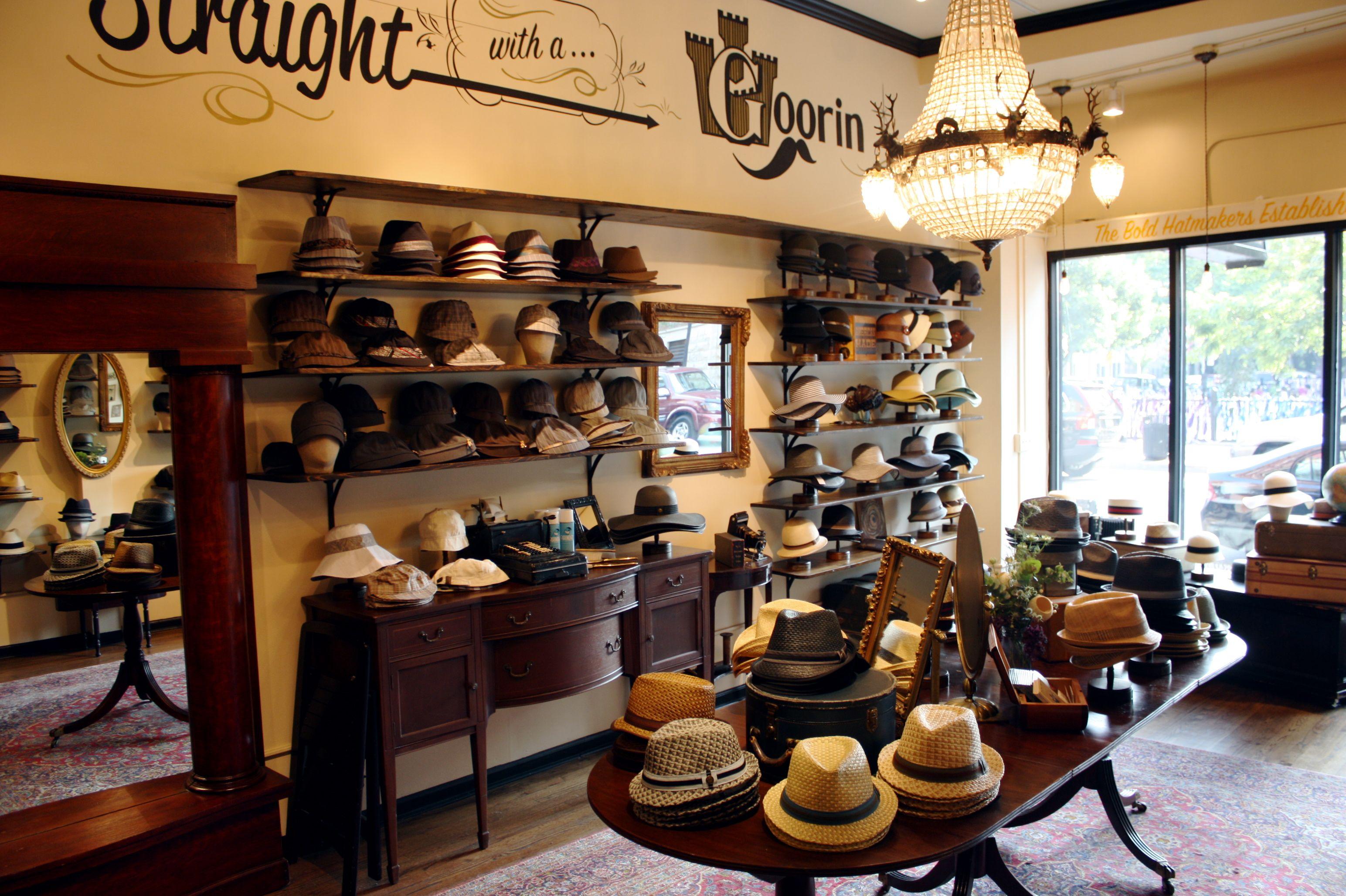Simple Shelves Hat Stores Hat Shop Hat Display